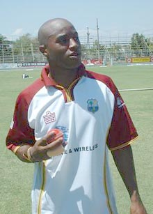 West Indies fast bowler Tino Best